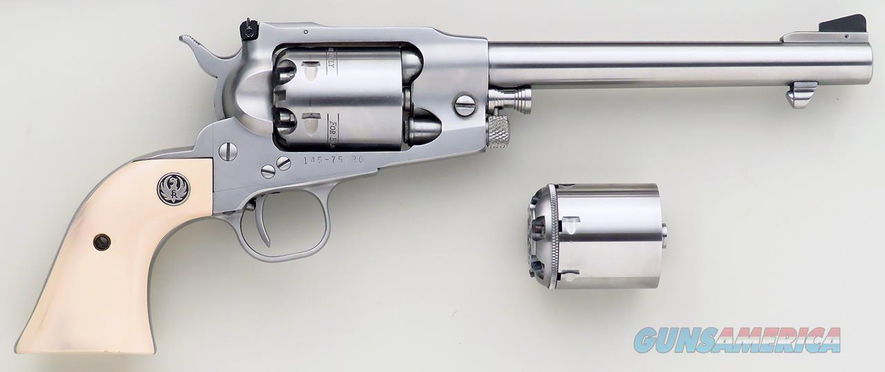 Ruger Old Army, Stainless, Howell .45 Long Colt cylinder, holster  Guns > Pistols > Ruger Cap & Ball Revolvers