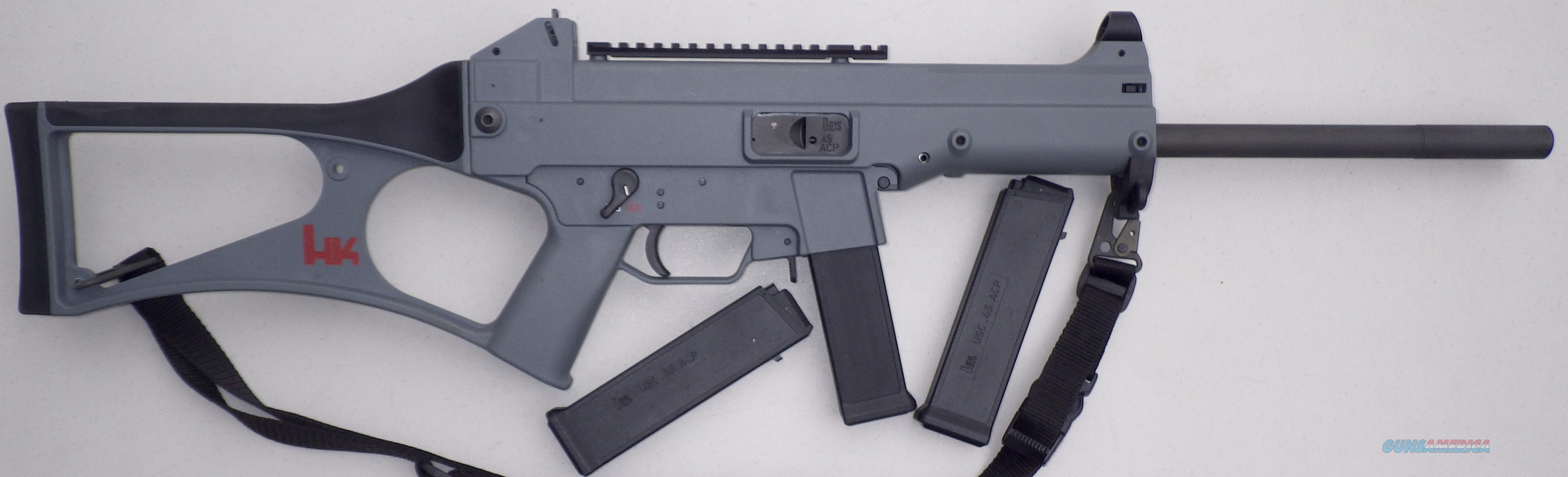 H&K USC .45 ACP, 16-inch barrel, three 10-round mags., gray, unfired  Guns > Rifles > Heckler & Koch Rifles > Tactical