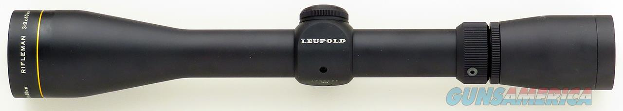 Leupold Rifleman 3-9x40 Wide Duplex reticle, matte, new condition  Non-Guns > Scopes/Mounts/Rings & Optics > Rifle Scopes > Variable Focal Length