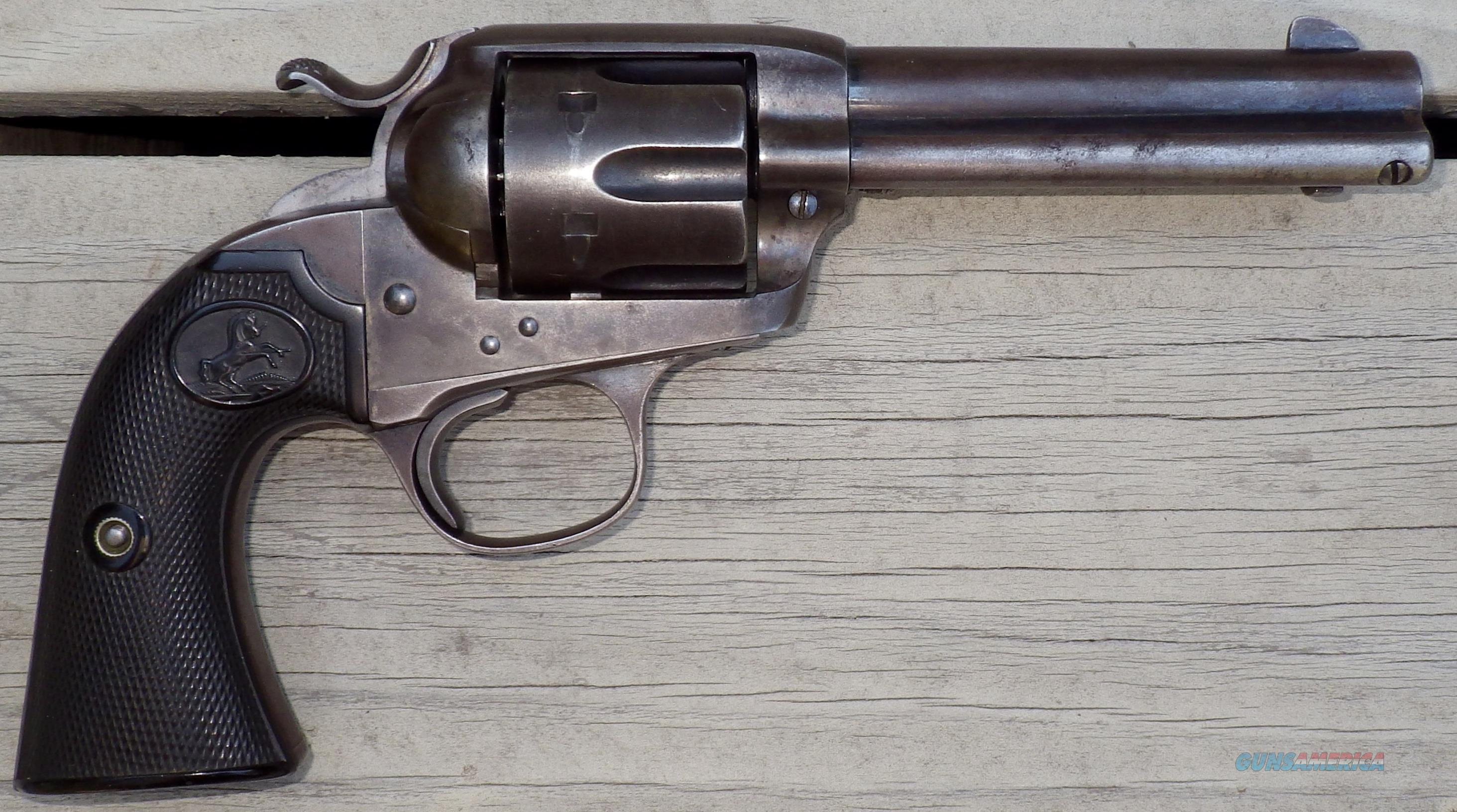 Colt Bisley .32/20 serial 305498, 1908, 4.75-inch, factory letter  Guns > Pistols > Colt Single Action Revolvers - 1st Gen.