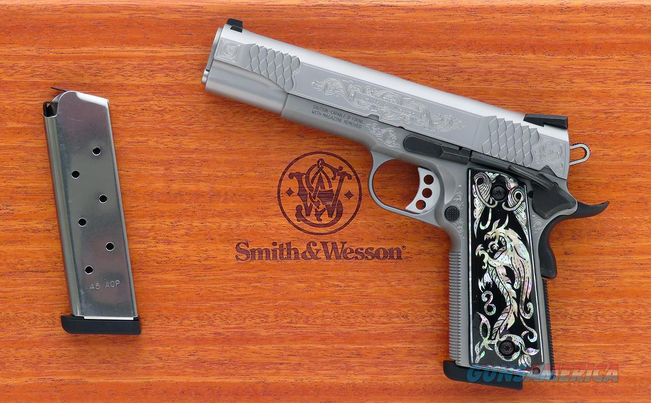 Smith & Wesson SW1911 .45 ACP, engraved, factory presentation box, appears unfired, layaway  Guns > Pistols > Custom Pistols > 1911 Family
