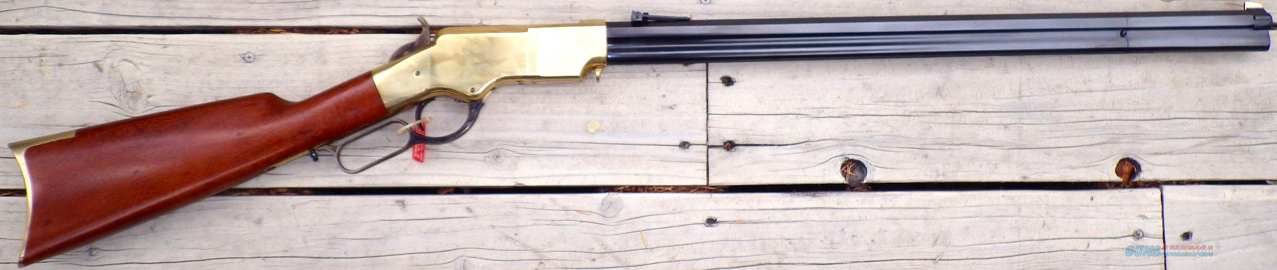 Navy Arms Henry .44-40, brass frame, 24-inch, swivels, new, adjustable  Guns > Rifles > Navy Arms Rifles