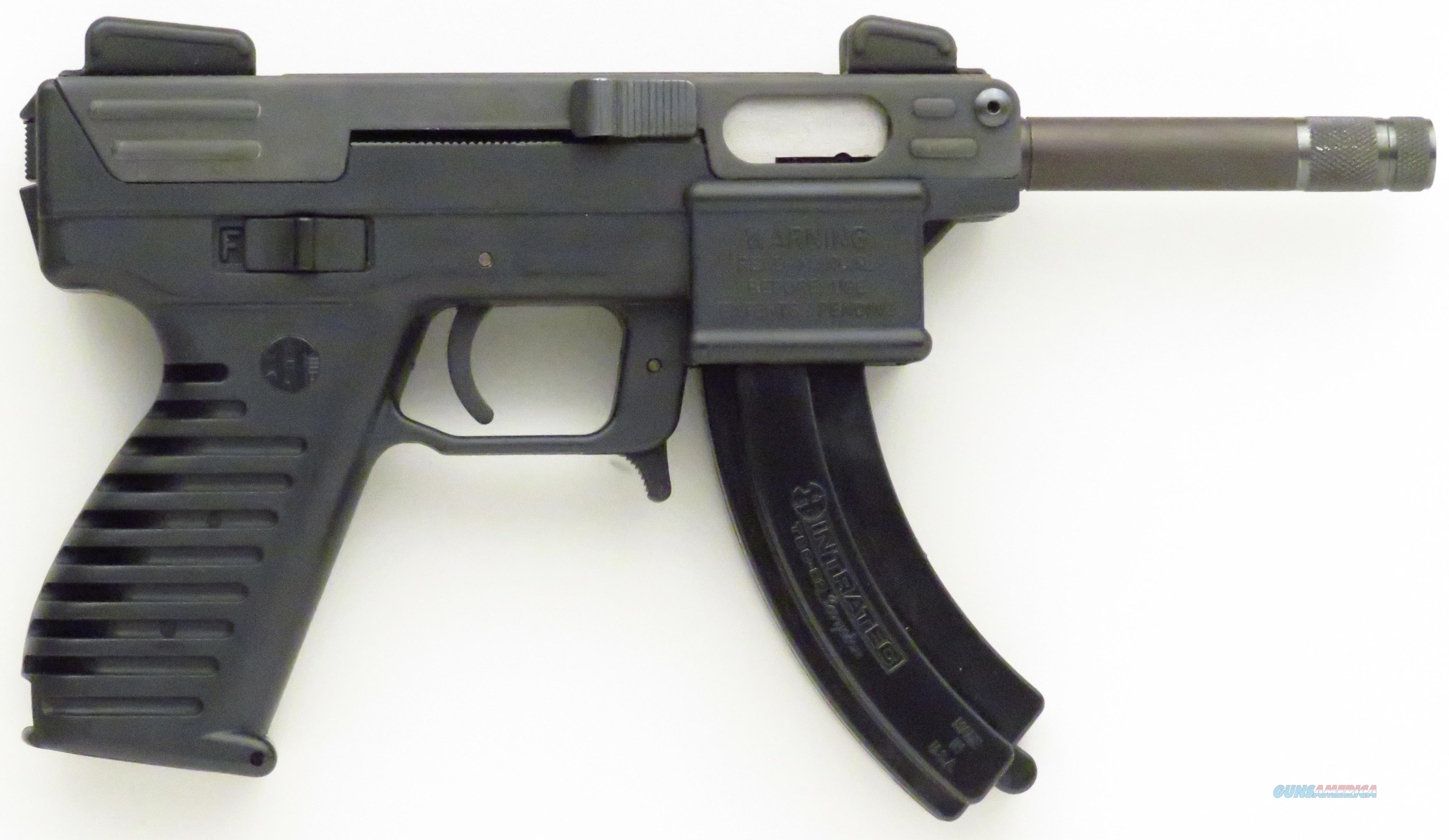 Intratec TEC-22T .22 LR, 4-inch threaded barrel, thread protector, magazine, papers and hard case  Guns > Pistols > Intratec Pistols
