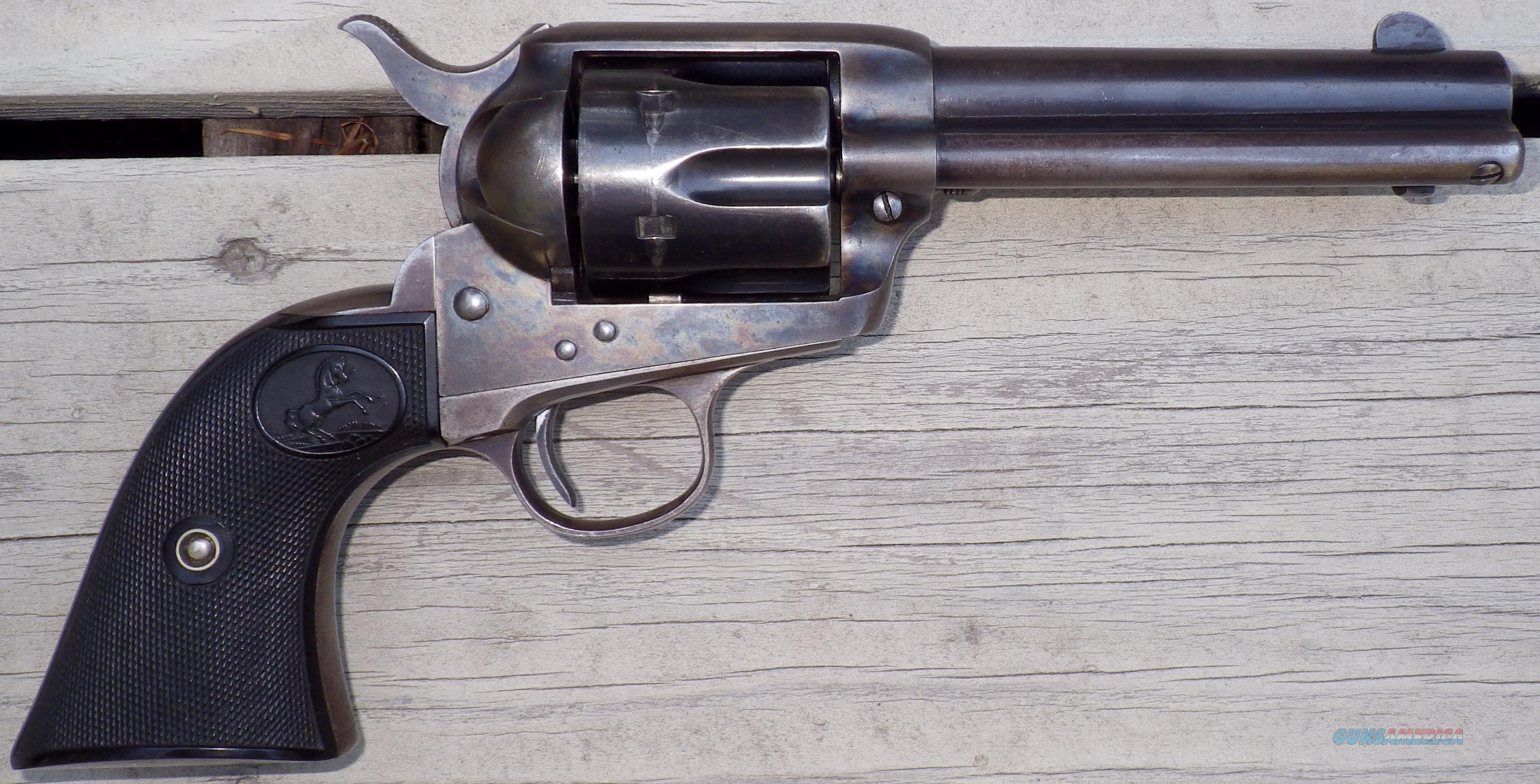 Colt SAA .41 Colt serial 295031, made in 1907, 4.75-inch, factory letter  Guns > Pistols > Colt Single Action Revolvers - 1st Gen.