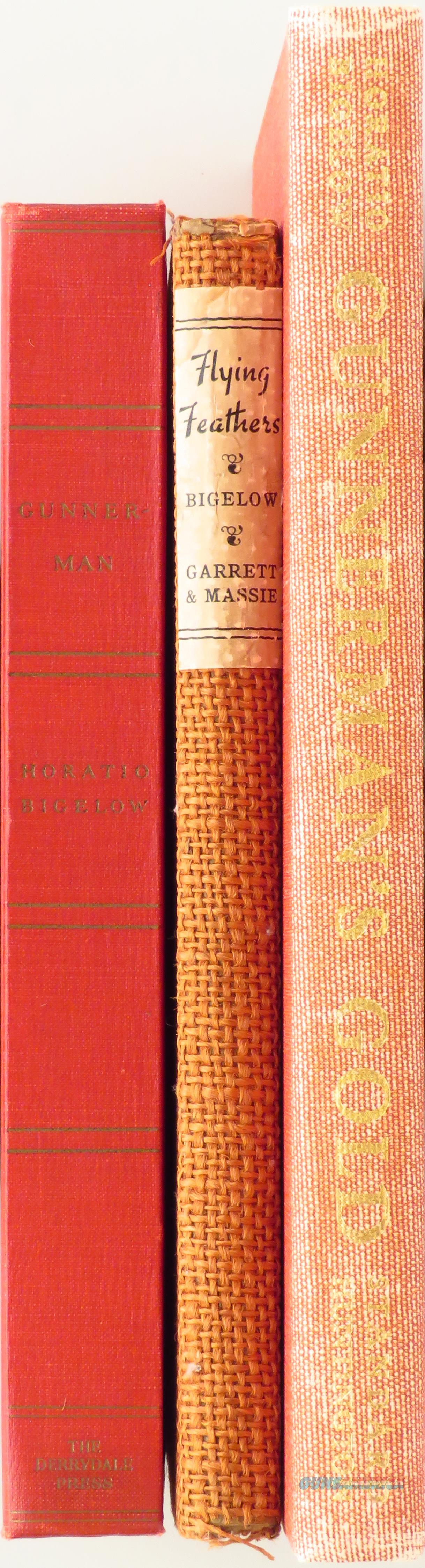 Trio by Horatio Bigelow, Gunnerman, Feathers, Derrydale, wing shooting   Non-Guns > Books & Magazines