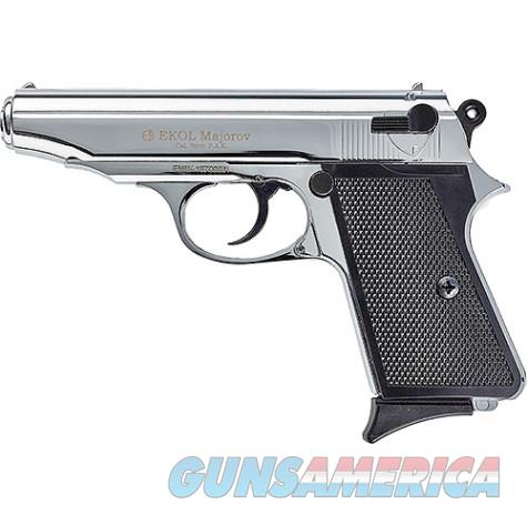 Majarov Semi Automatic Blank Firing Pistol Nickel Finish  Non-Guns > Hobbies and Collectibles > Scale Models > Other/Misc