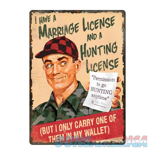 Marriage hunting license sign for sale for Hunting fishing license