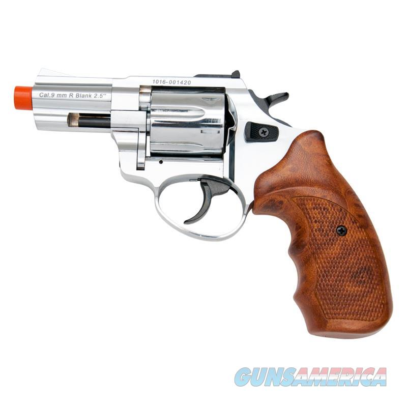 "Zoraki R1 2.5"" Barrel Revolver Chrome Finish Wood Grips Front Firing Gun  Non-Guns > Hobbies and Collectibles > Scale Models > Other/Misc"