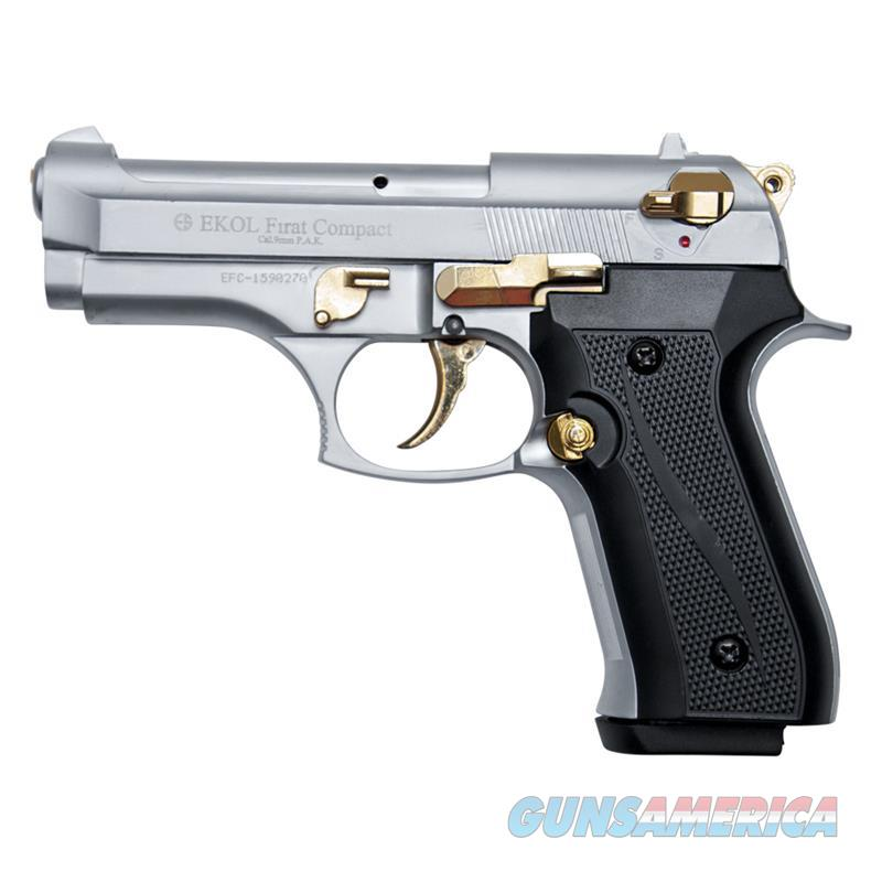 Compact V92F Nickel with Gold Fittings - Blank Firing Replica Gun  Non-Guns > Hobbies and Collectibles > Scale Models > Other/Misc