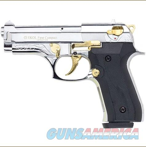 Firat Compac 92 Blank Firing Replica Gun Nickel/Gold Engraved  Non-Guns > Hobbies and Collectibles > Scale Models > Other/Misc