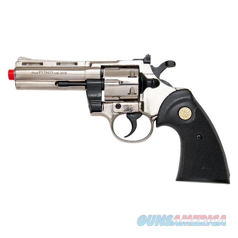 Kimar PYTHON Nickel Finish 9mm Front Firing Blank Revolver  Non-Guns > Hobbies and Collectibles > Scale Models > Other/Misc