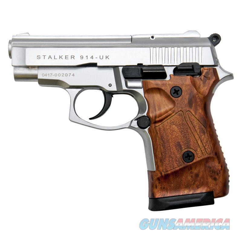 Stalker 914 Silver Finish With Wood Grips - 9mm Blank Firing Zoraki Gun  Non-Guns > Hobbies and Collectibles > Scale Models > Other/Misc