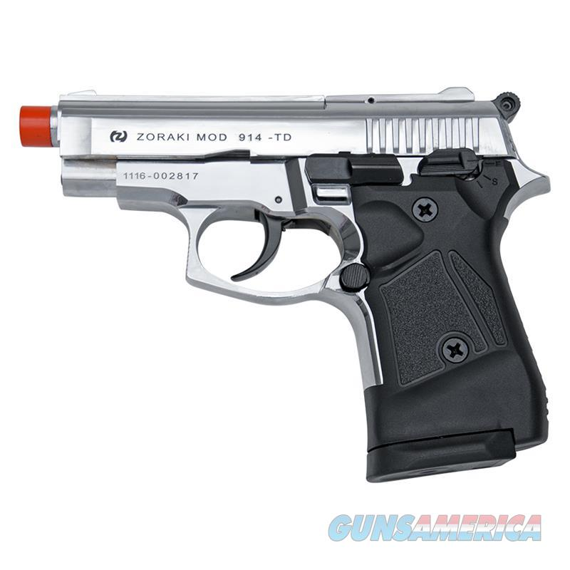Zoraki Front Fire Chrome M914 Full Auto 9mm Blank Gun Machine Pistol  Non-Guns > Hobbies and Collectibles > Scale Models > Other/Misc