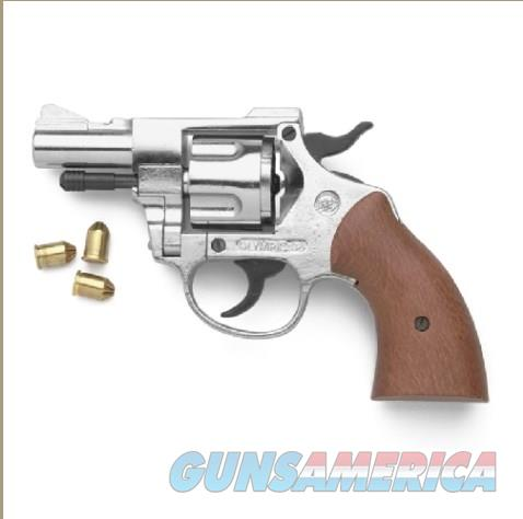 Nickel Finish Olympic 9mm Blank Firing Revolver  Non-Guns > Hobbies and Collectibles > Scale Models > Other/Misc