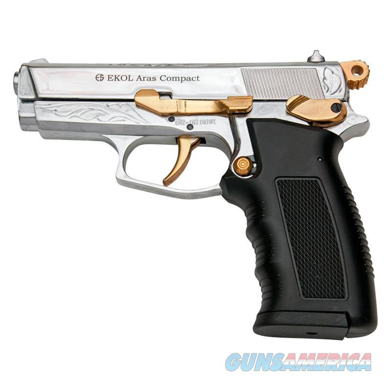 ARAS Compact HP Gold Engraved With Gold Fittings 9MM Blank Gun  Non-Guns > Hobbies and Collectibles > Scale Models > Other/Misc