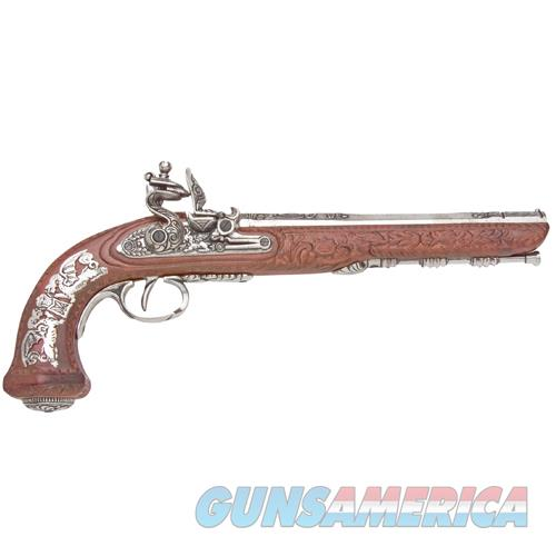 Colonial Replica French Silver Dueling Pistol Non-Firing Gun  Non-Guns > Cowboy Action/Western