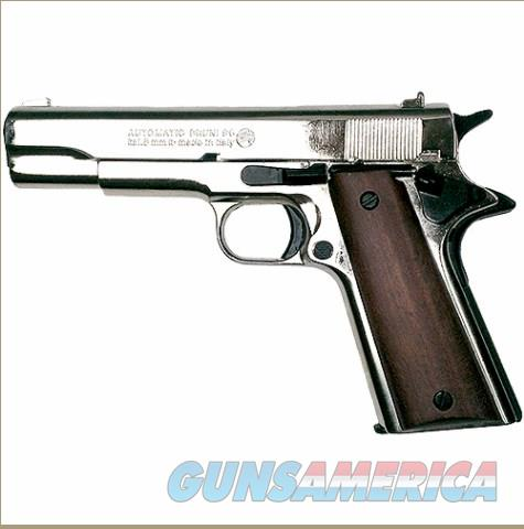 M1911 High Polish Nickel .45 Government Automatic Blank Firing Pistol  Non-Guns > Hobbies and Collectibles > Scale Models > Other/Misc