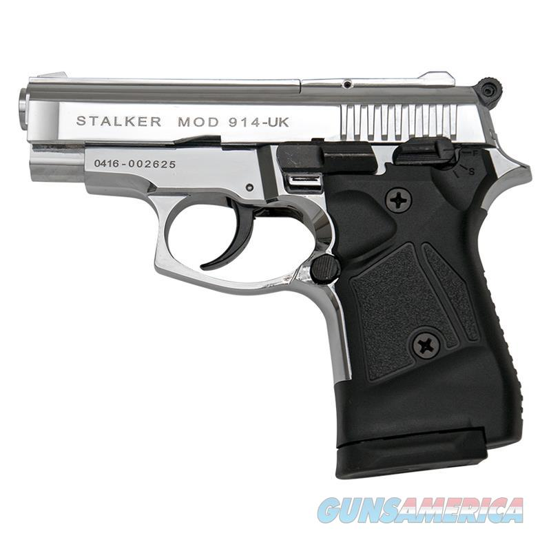 Stalker 914 Chrome Finish - Full Automatic 9mm Blank Firing Replica Gun  Non-Guns > Hobbies and Collectibles > Scale Models > Other/Misc
