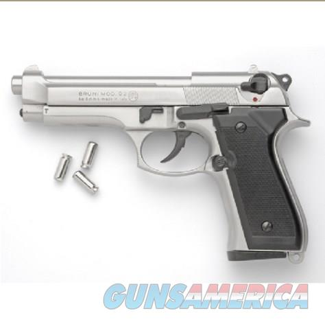 Replica M92 Semi Automatic Blank Firing Gun Nickel Finish  Non-Guns > Hobbies and Collectibles > Scale Models > Other/Misc