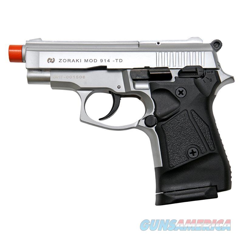 Zoraki Front Fire Silver Finish M914 Full Auto 9mm Blank Gun Machine Pistol  Non-Guns > Hobbies and Collectibles > Scale Models > Other/Misc