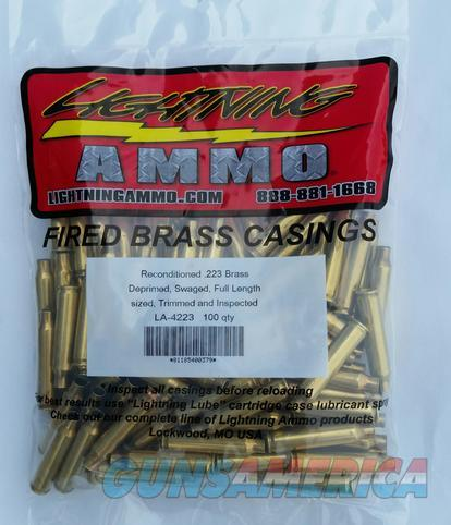 223 Lightning Brass 100pk (Reconditioned)  Non-Guns > Reloading > Components > Brass