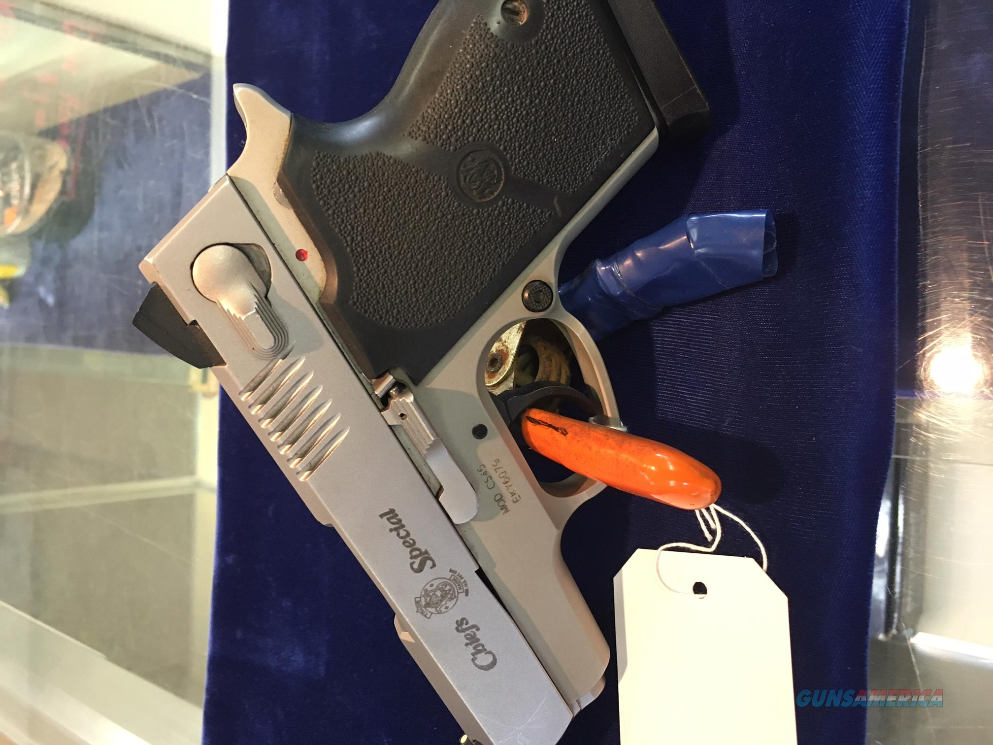 Stainless Steel 45 Smith and Wesson Chief's Special  Guns > Pistols > Smith & Wesson Pistols - Autos > Steel Frame