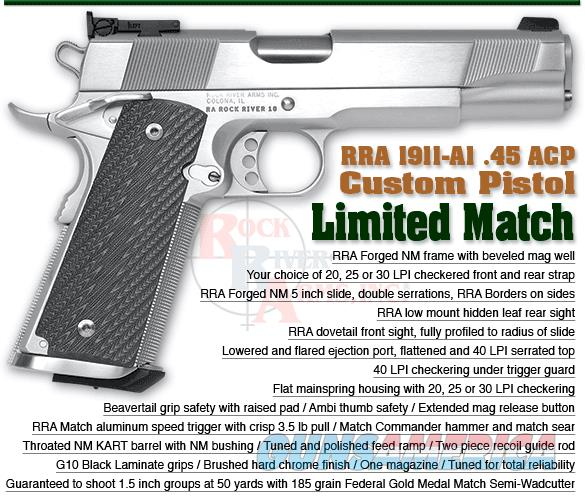 ROCK RIVER ARMS 1911 LIMITED MATCH  Guns > Pistols > Rock River Arms Pistols