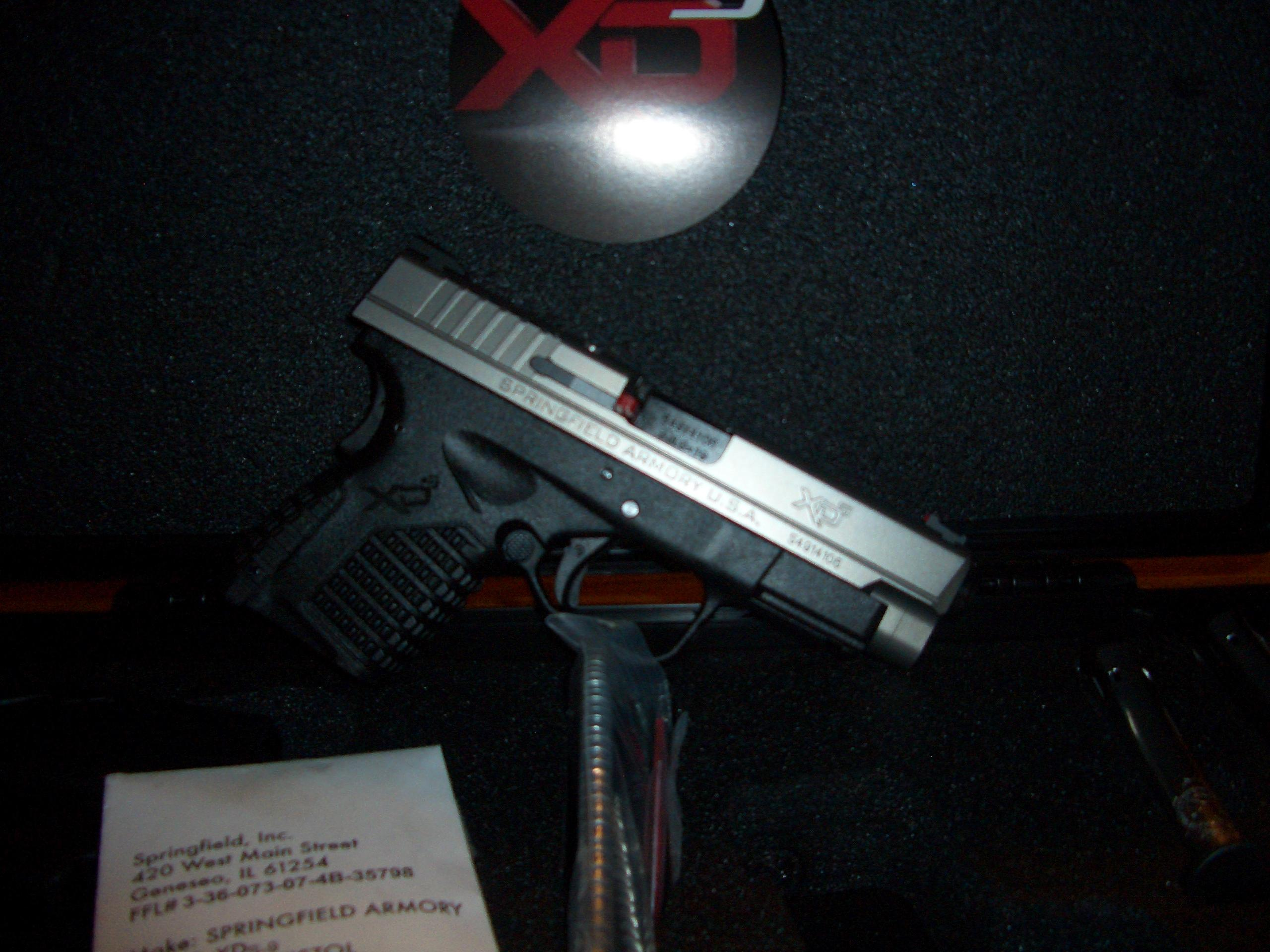 SPG XDS9409S XDS 9MM 4IN BITONE   Guns > Pistols > Springfield Armory Pistols > XD-S