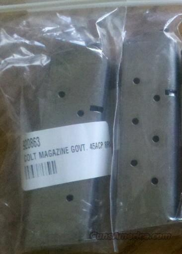 Factory COLT 1911 8 Round .45 ACP Stainless Mag 45  Non-Guns > Magazines & Clips > Pistol Magazines > 1911