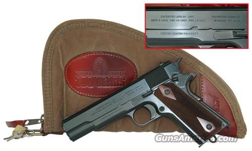 BROWNING 1911 .45 ACP PISTOL  1911-2011 COMMEMORATIVE 1911-45  (Only 40 pistols produced)   Guns > Pistols > Browning Pistols > Other Autos
