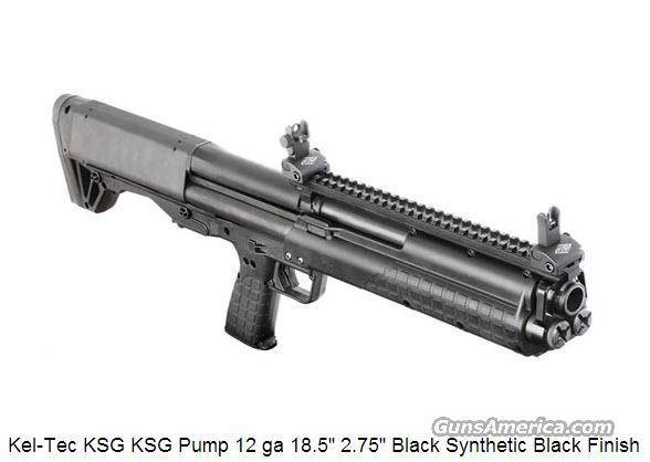 "Kel-Tec KSG KSG Pump 12 ga 18.5"" 2.75"" Black Synthetic Black Finish  Guns > Shotguns > Kel-Tec Shotguns > KSG"