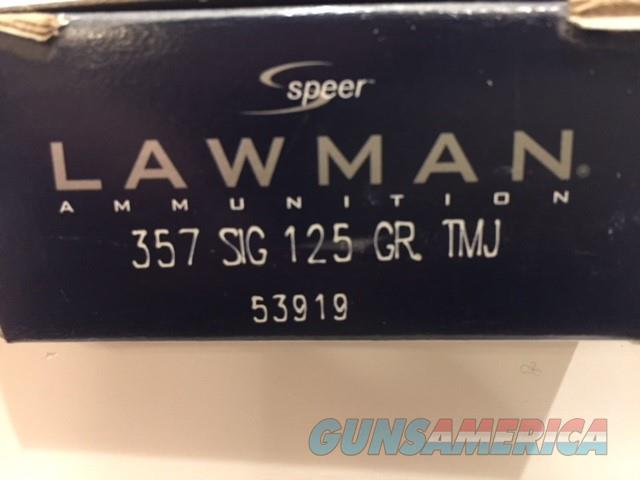 Speer Lawman .357 Sig Ammo - 50 rnd box  Non-Guns > Ammunition