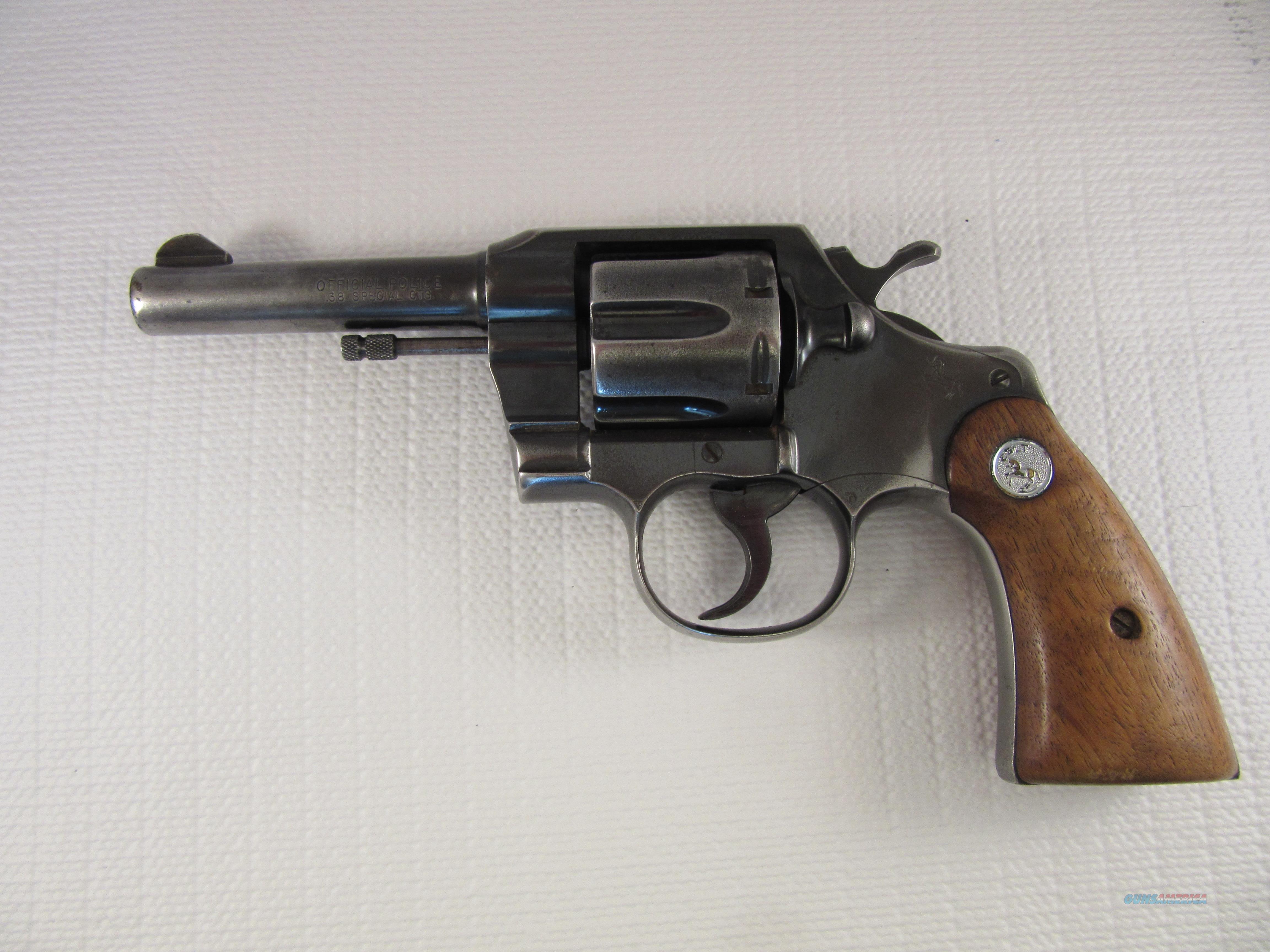 """COLT Official Police Revolver; 38 SPL; 4"""" Bbl (... For Sale"""