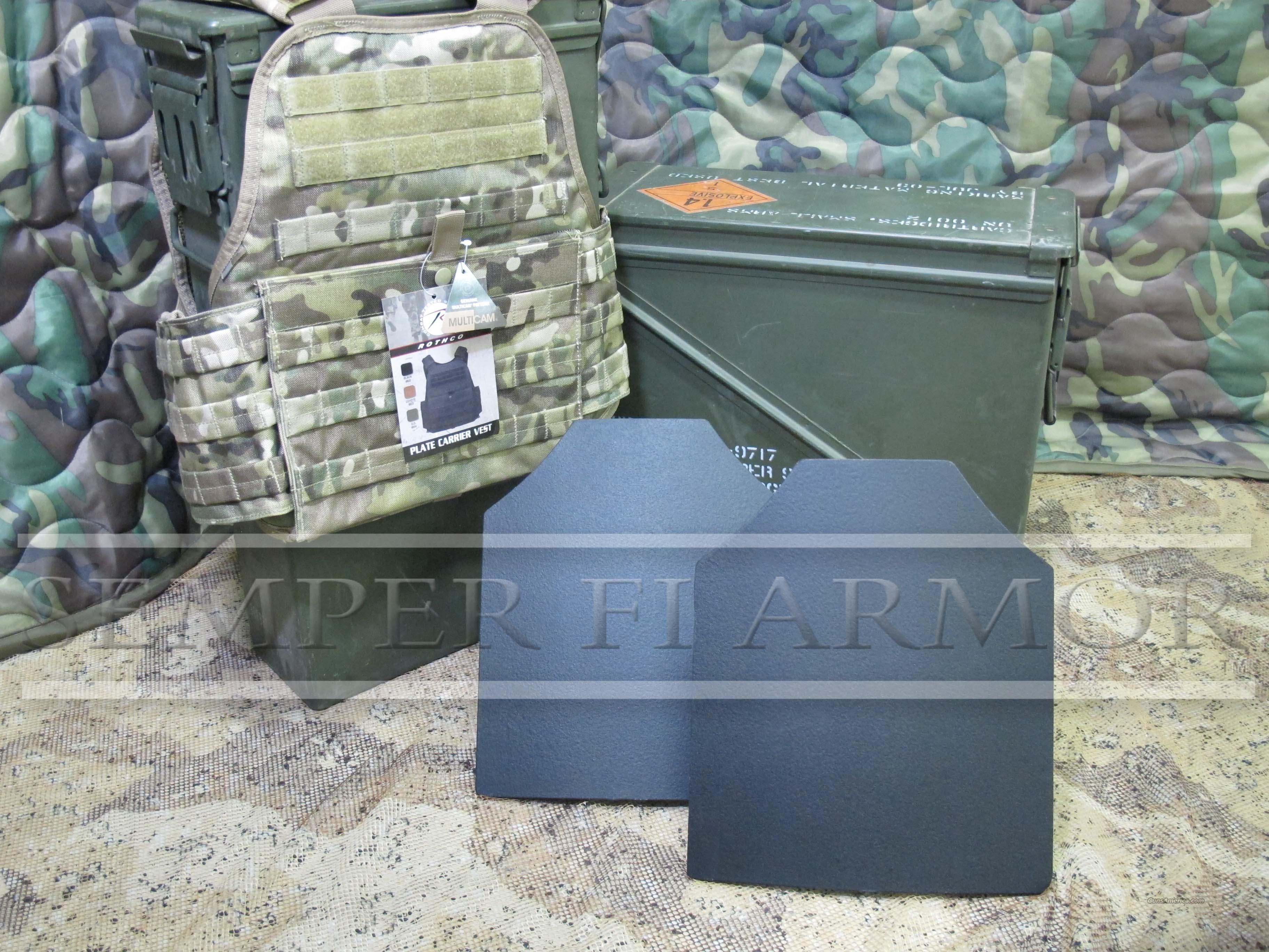 SALE 2-AR500 Body Armor Plates 10x12 & MultiCam Carrier  Non-Guns > Tactical Equipment/Vests