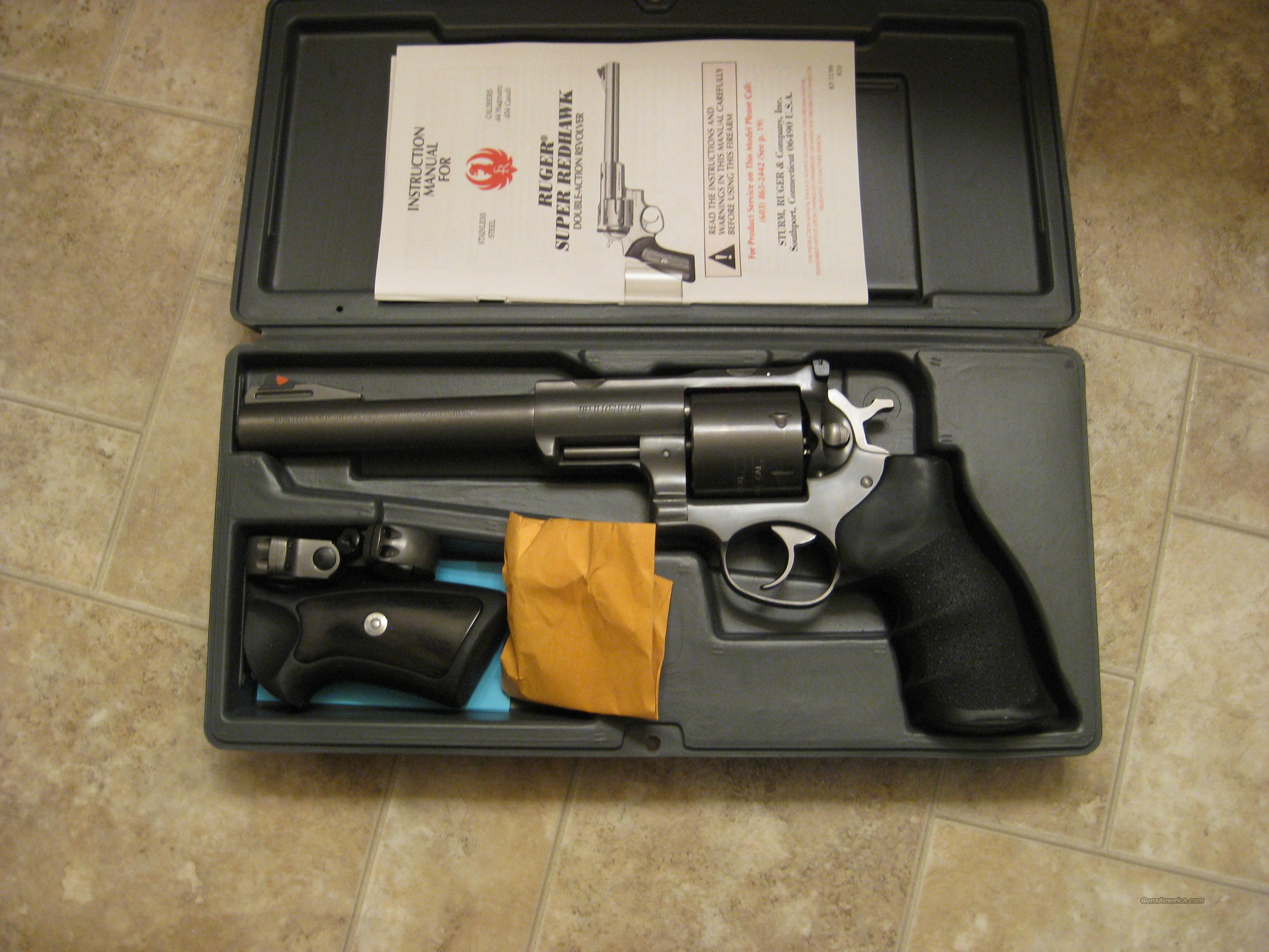 Ruger Super Redhawk .454 Casull   Guns > Pistols > Ruger Double Action Revolver > Redhawk Type