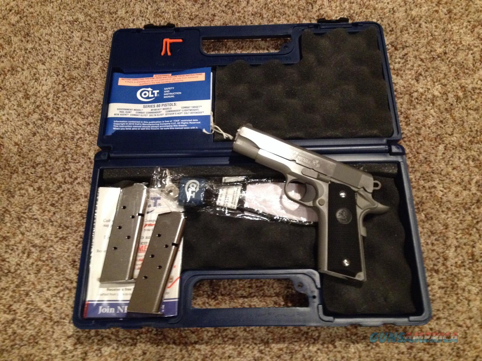 Colt Commander Stainless .45ACP Never Fired  Guns > Pistols > Colt Automatic Pistols (1911 & Var)