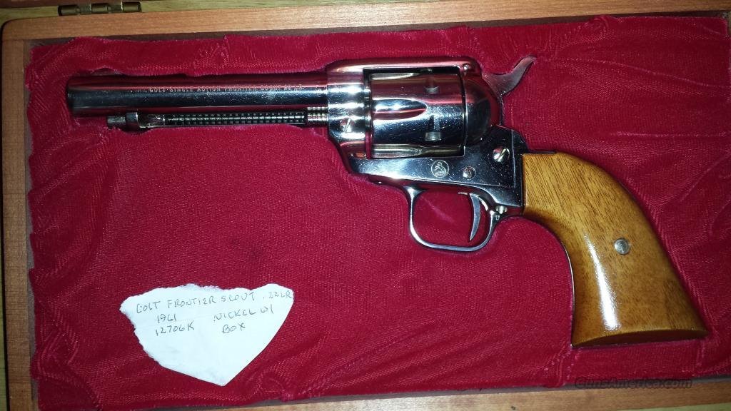 1961 Colt Frontier Scout  Guns > Pistols > Colt Single Action Revolvers - 1st Gen.