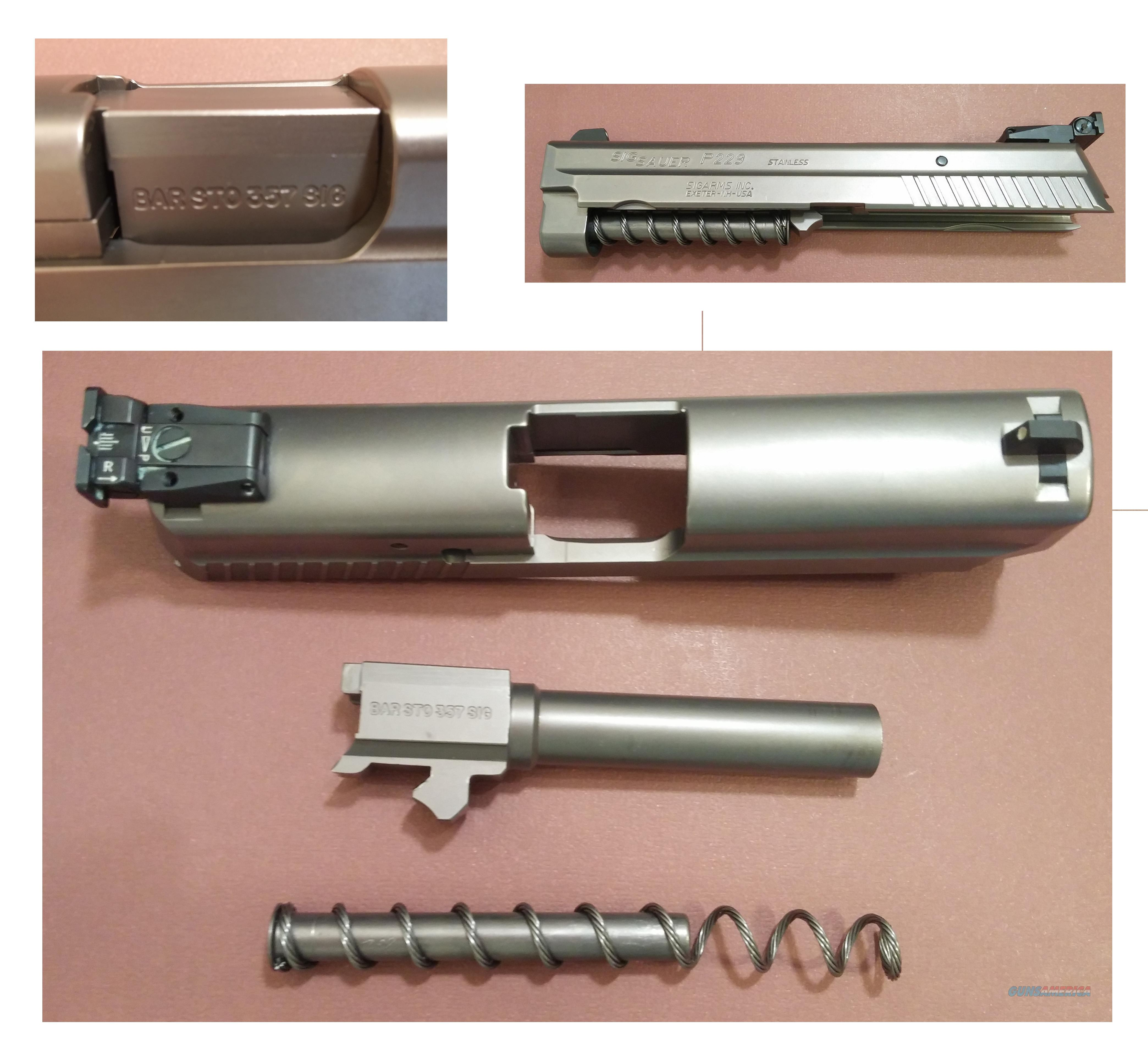 Custom Sig Sauer P229 Complete Upper NP3, BarSto Barrel  Non-Guns > Gun Parts > Military - American