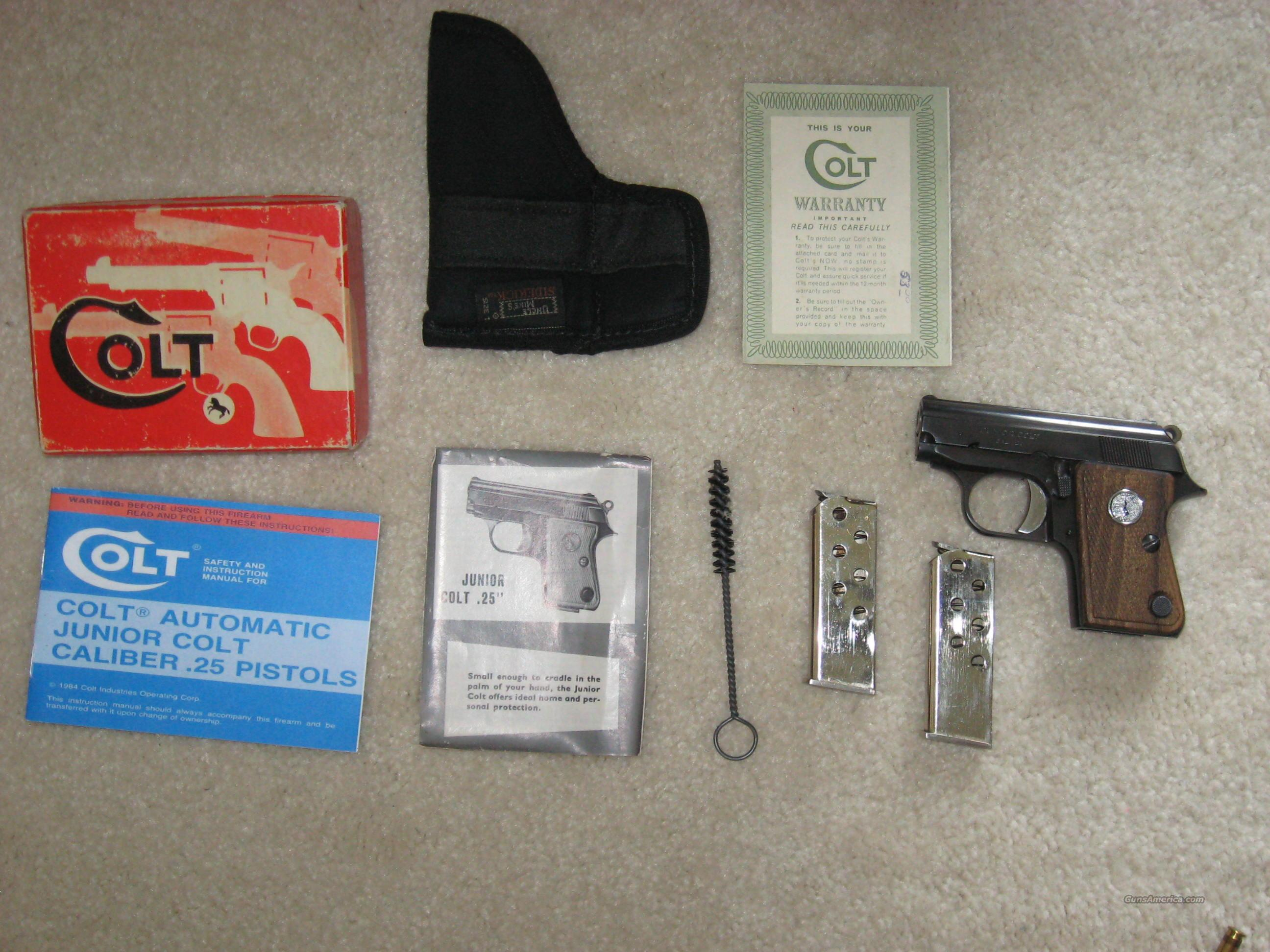 Colt Junior, .25, reduced  Guns > Pistols > Colt Automatic Pistols (.25, .32, & .380 cal)