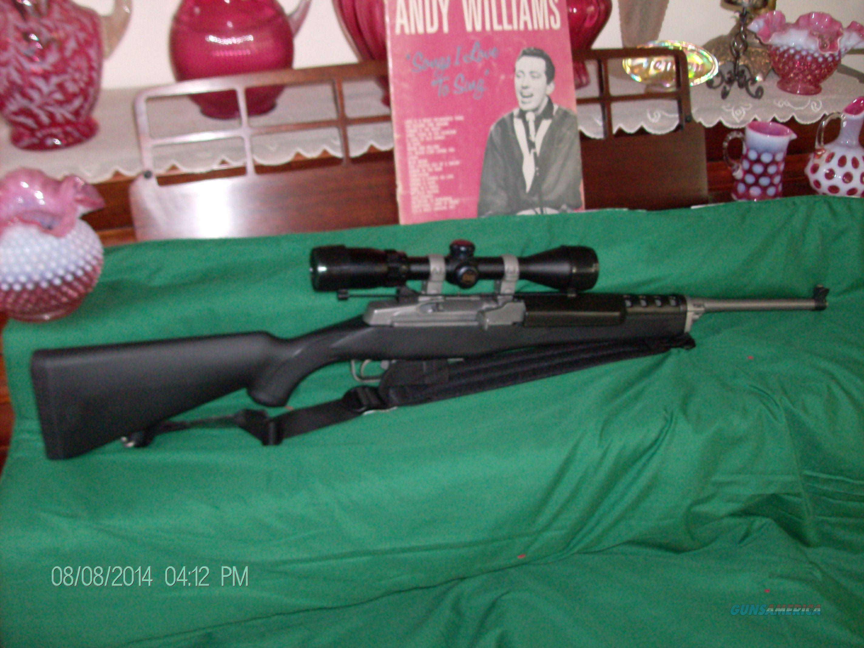 Ruger Mini 14 Stainless Steel Rancher w/Banner Scope  Guns > Rifles > Ruger Rifles > Mini-14 Type