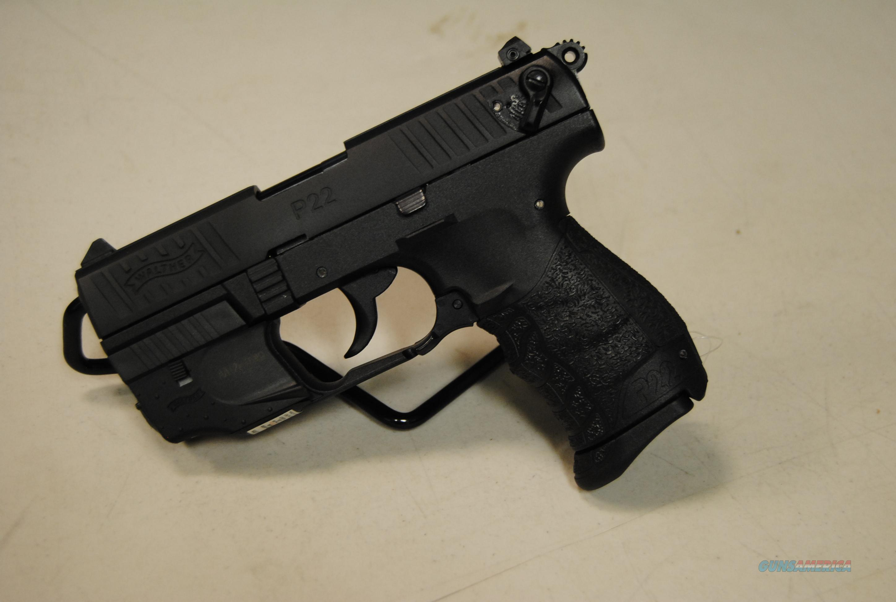Walther P22 Black W/ Laser 22lr  Guns > Pistols > Walther Pistols > Post WWII > P22