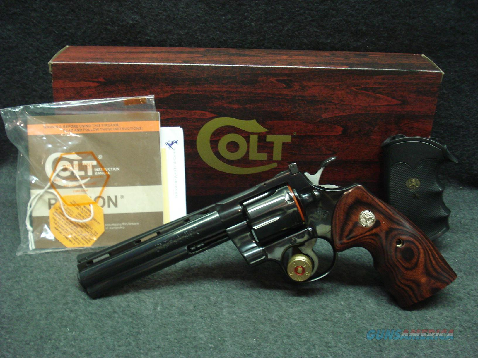 "COLT PYTHON 6"" BARREL NEW IN  BOX  Guns > Pistols > Colt Double Action Revolvers- Modern"