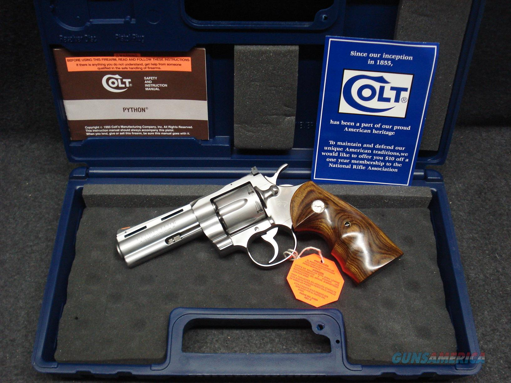 "COLT PYTHON ELITE STAINLESS 4"" BARREL  Guns > Pistols > Colt Double Action Revolvers- Modern"
