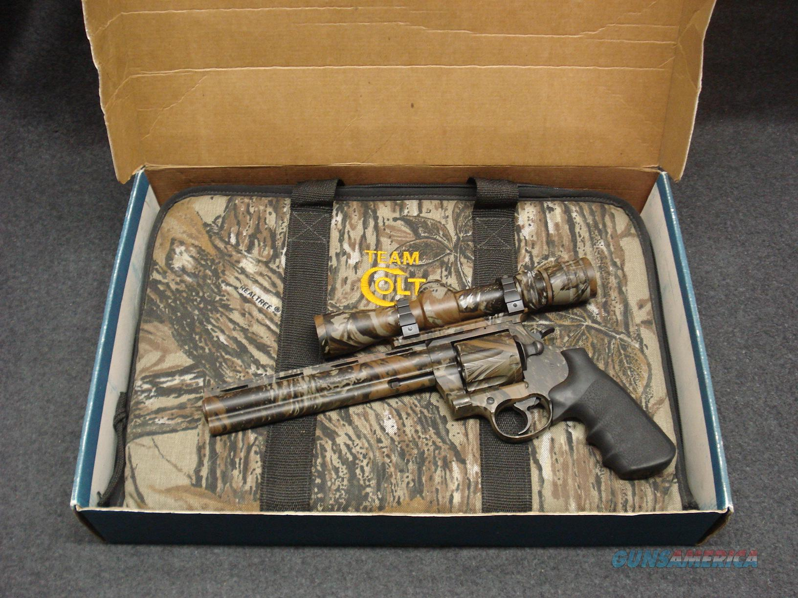 COLT ANACONDA REALTREE CAMO SCOPE 44MAG  Guns > Pistols > Colt Double Action Revolvers- Modern