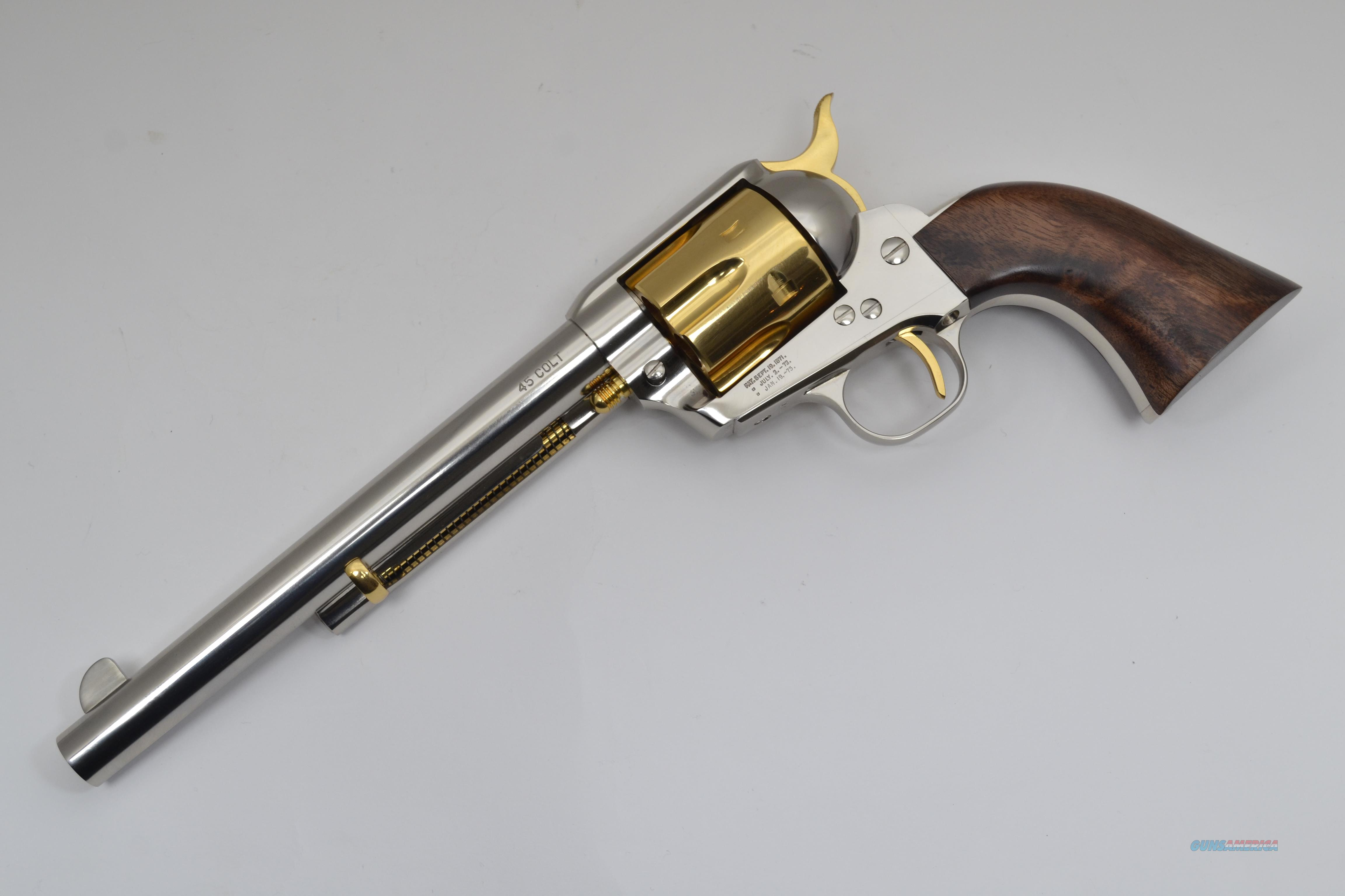 "Standard Mfg - Single Action Revolver, Nickel/Gold Plated, .45 LC. 7 1/2"" Barrel. (LIMITED EDITION)  Guns > Pistols > Standard Mfg. Pistols"