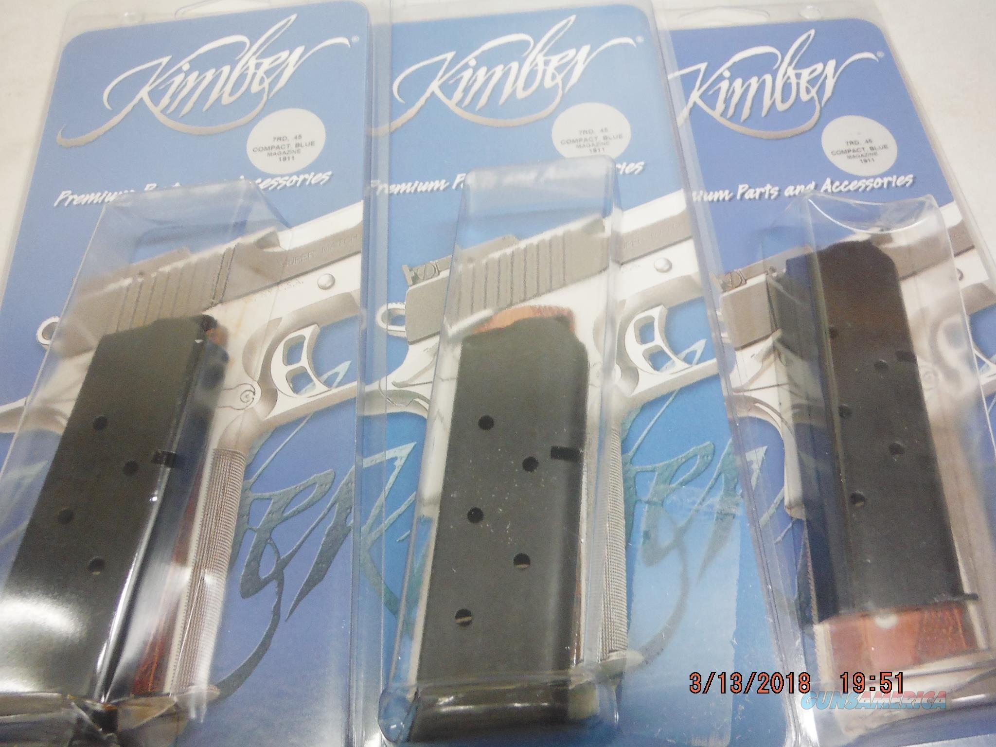 3 KIMBER 1911 Compact Mag 45 ACP 7Rd (3-Pk), Factory Kimber  Non-Guns > Magazines & Clips > Pistol Magazines > 1911