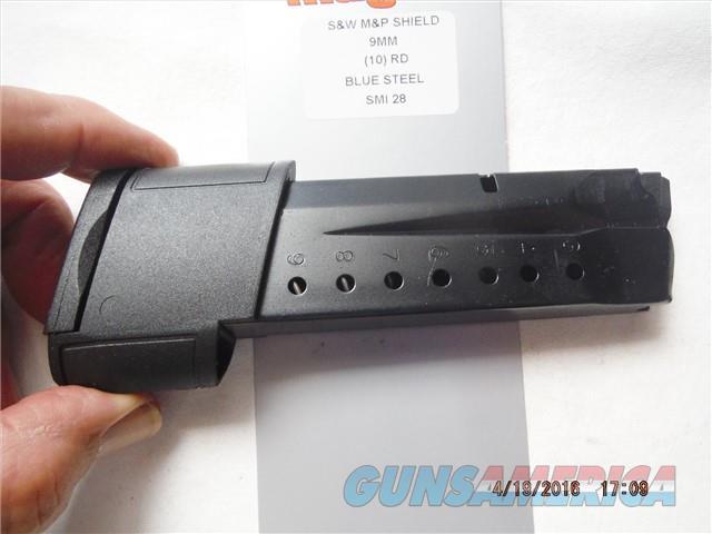 Smith & Wesson M&P SHIELD Magazine 9mm 10Rd  Non-Guns > Magazines & Clips > Pistol Magazines > Smith & Wesson