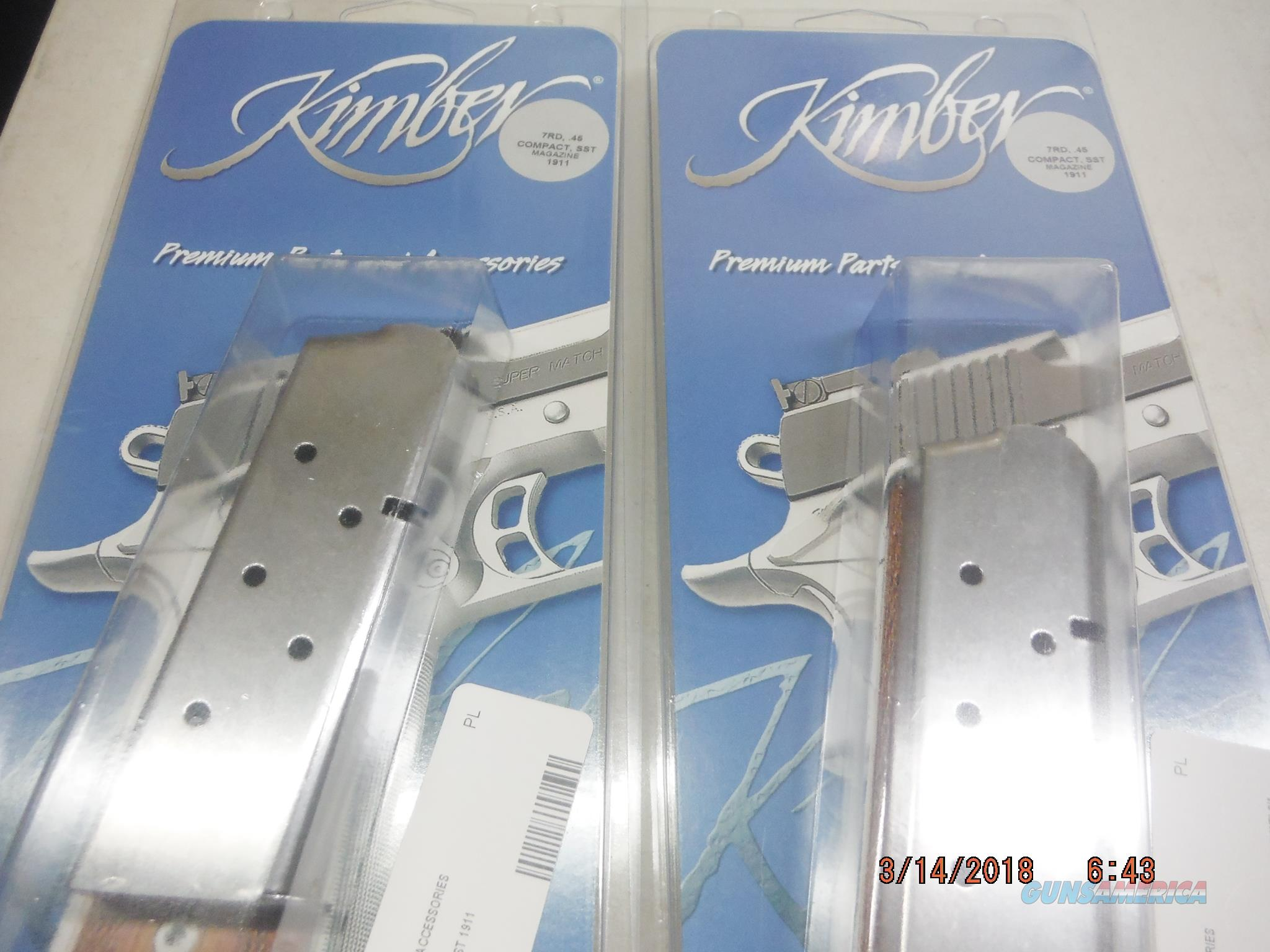 2 KIMBER 1911 Compact Mag 45 ACP 7Rd SS Factory Kimber  Non-Guns > Magazines & Clips > Pistol Magazines > 1911