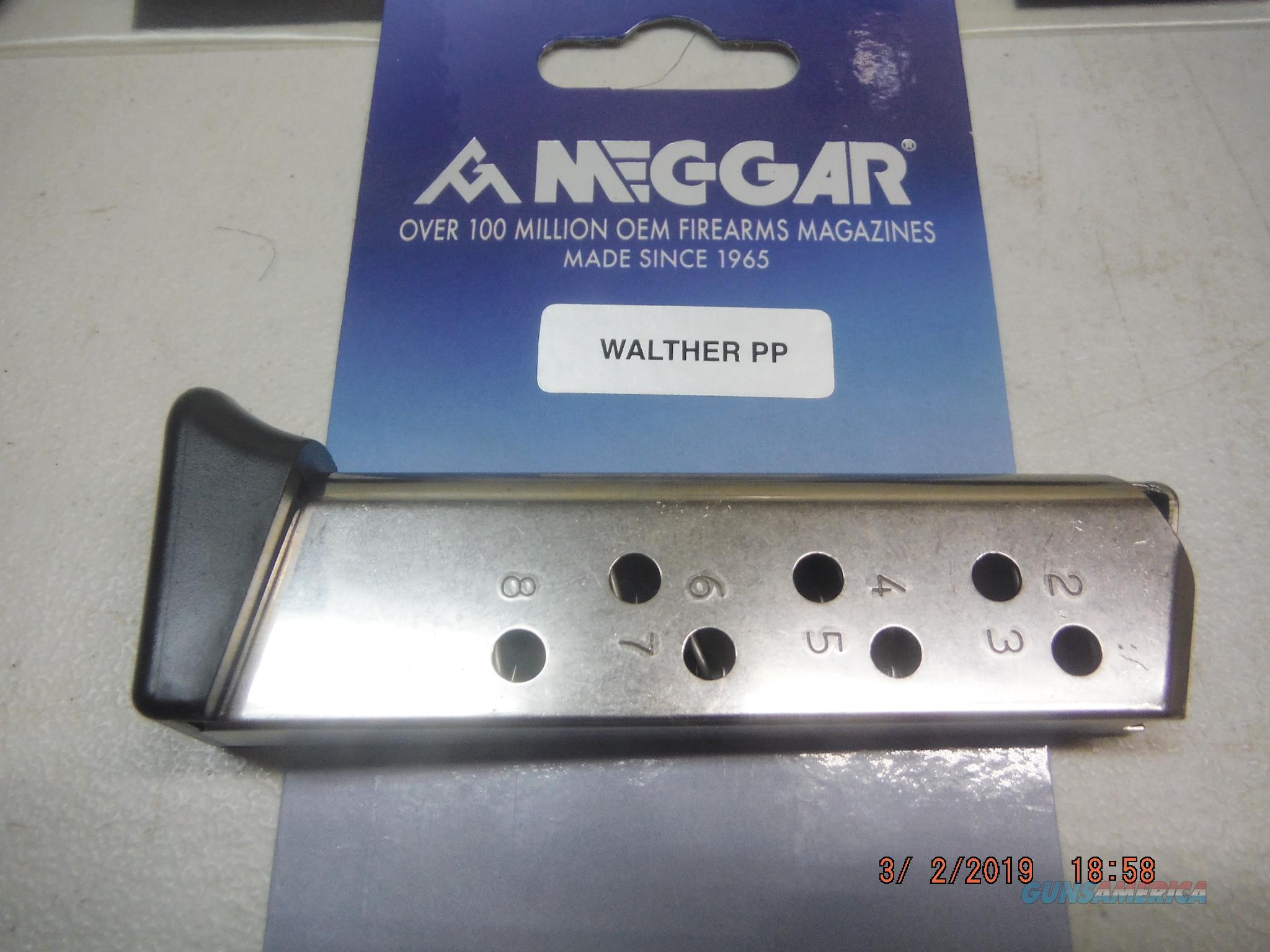 Walther PP/PPKS 32 ACP 8rd magazine Nickel w/GripX  Non-Guns > Magazines & Clips > Pistol Magazines > Other