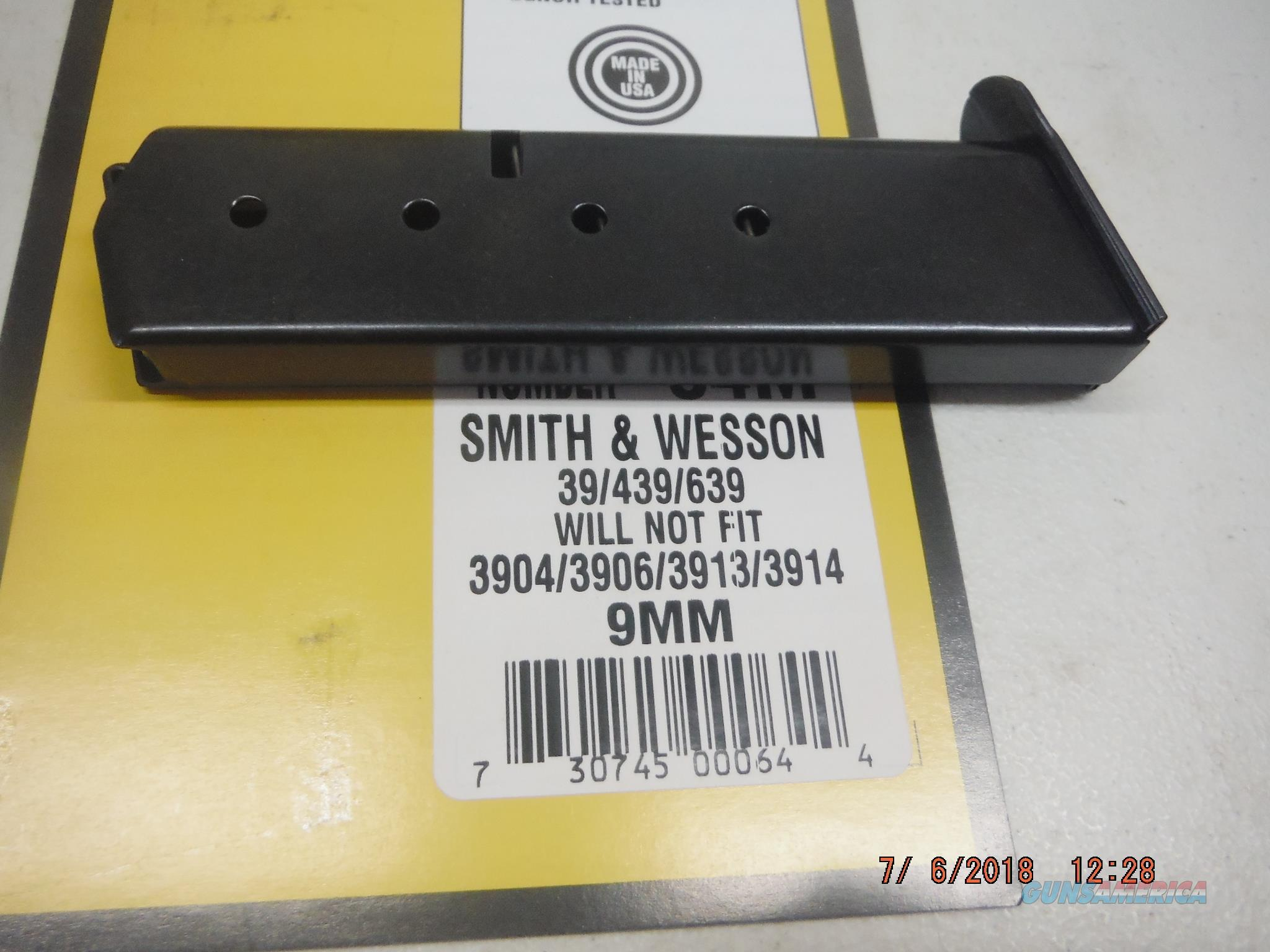 SMITH AND WESSON Magazine 39 439 639 9mm 8Rd  Non-Guns > Magazines & Clips > Pistol Magazines > Smith & Wesson
